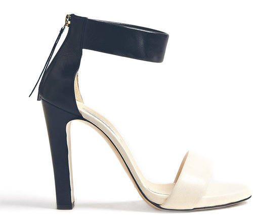 Bionda Castana Navy And Ivory Elizabetta Sandals