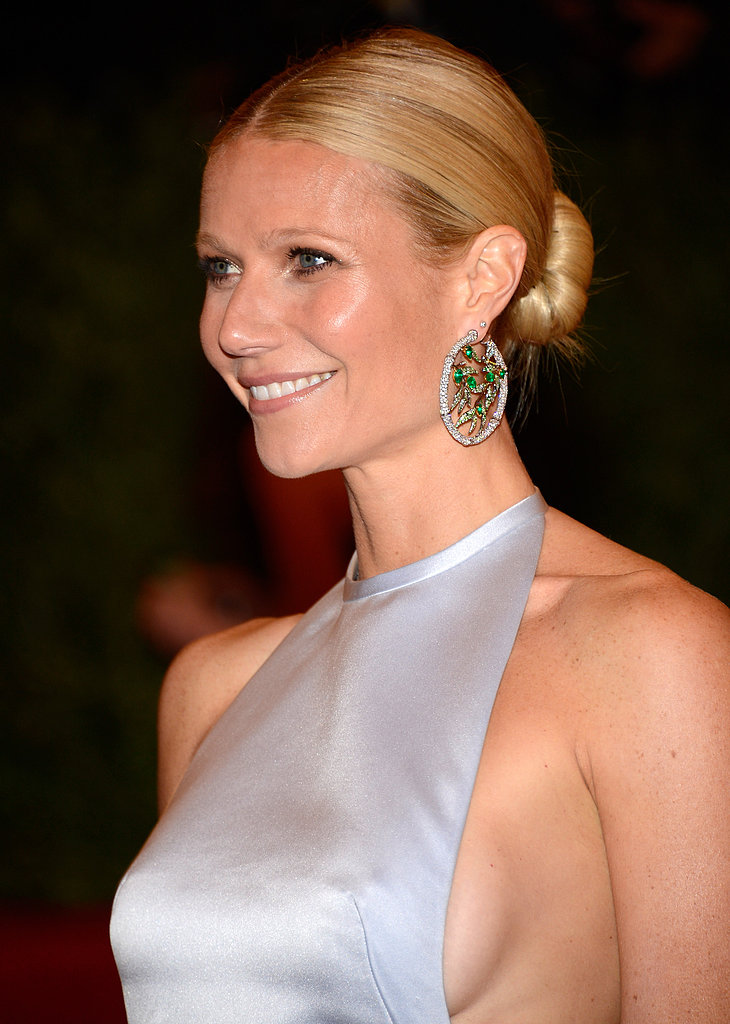 She attended the 2012 Met Gala with an effortless chignon and natural makeup palette — simple yet chic.