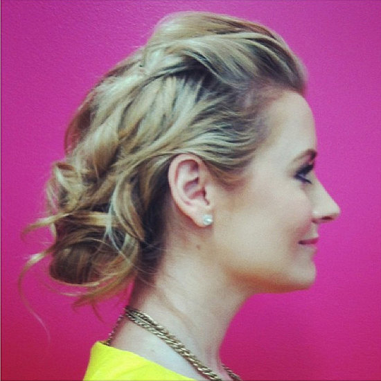 Bridal Updo For Shoulder-Length Hair