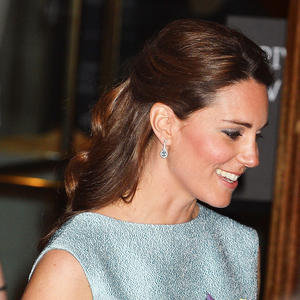 kate middleton halfup hairstyle pictures popsugar beauty