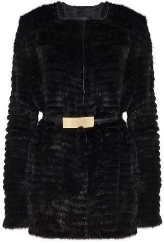 ELIE SAAB Mink Short Fur Coat