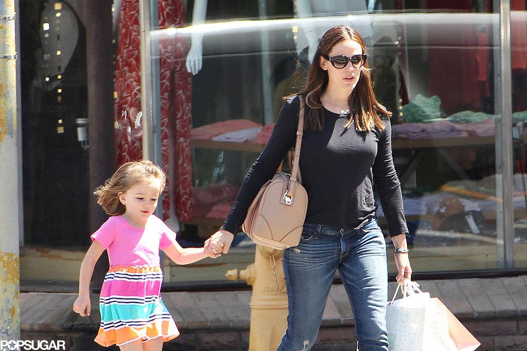 Jennifer Garner and Seraphina Affleck walked through LA on Thursday.
