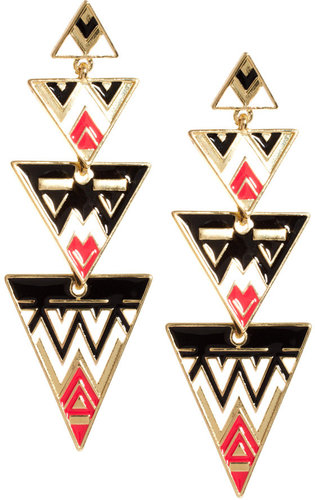 ASOS Aztec Triangle Drop Earrings
