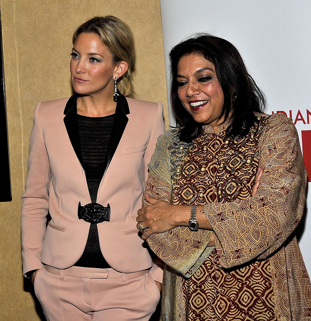 Kate Hudson chatted with director Mira Nair.