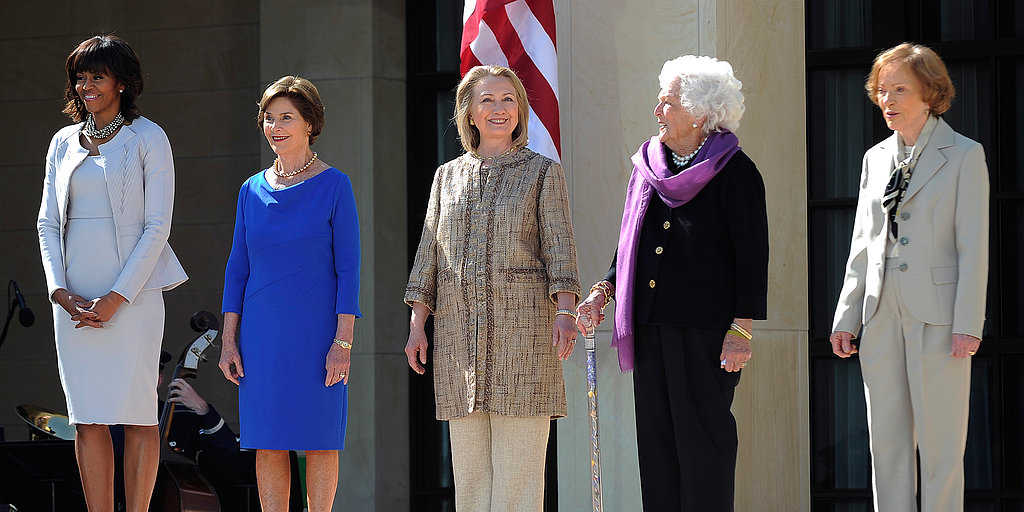 Presidents and First Ladies Unite For George W. Bush