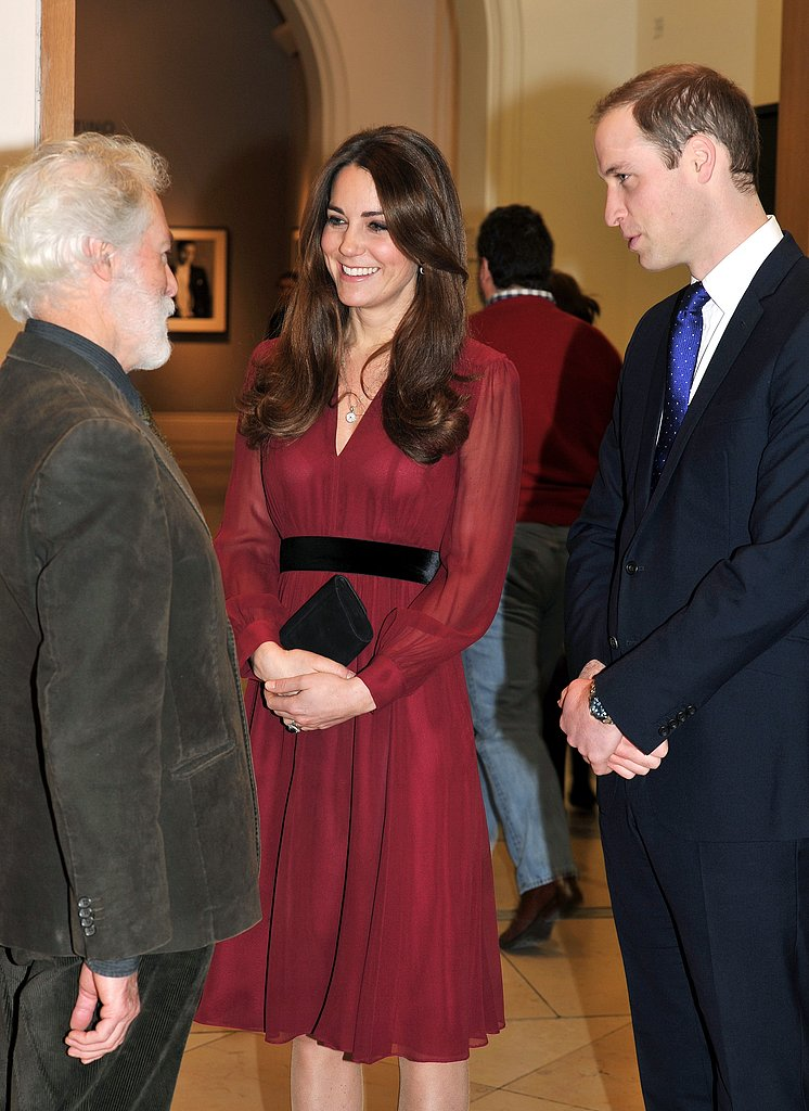 Kate Middleton and Prince William chatted with British artist Paul Emsley after viewing his portrait of the duchess at the National Portrait Gallery in London in January.