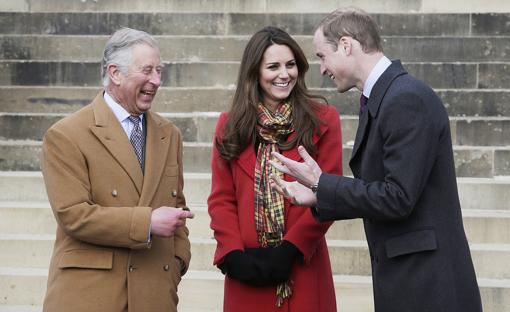 Kate Middleton and Prince William visited with Prince Charles in Ayrshire in April while touring Scotland, where they are known as the Earl and Countess of Strathearn.