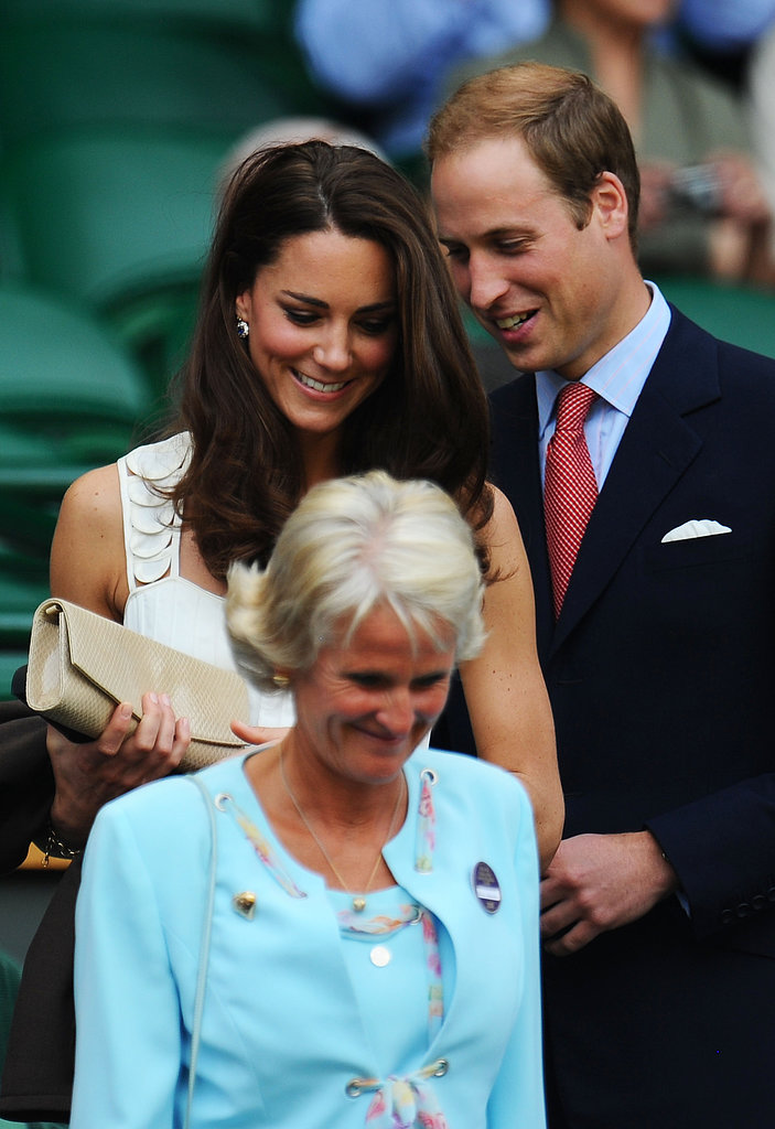Prince William stuck close to Kate Middleton at the June 2011 Wimbledon Championships.