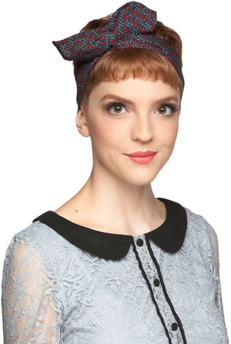 Through the Wire Headband in Navy