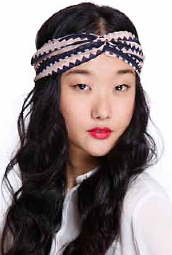 Genie by Eugenia Kim Penny Twist Turban Headband in Pink/Navy