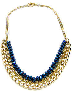 Janna Conner Gold Plated Semi Gabor Necklace