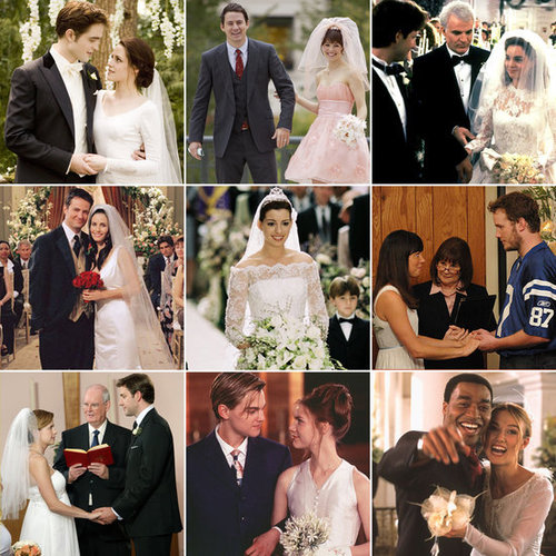 Whether the marriages lasted for minutes, months, or never even happened, POPSUGAR Entertainment has compiled some of the best weddings from TV and movies. Take a trip down memory lane with all of these ceremonies, complete with gorgeous gowns, scenic locations, and sweet kisses!