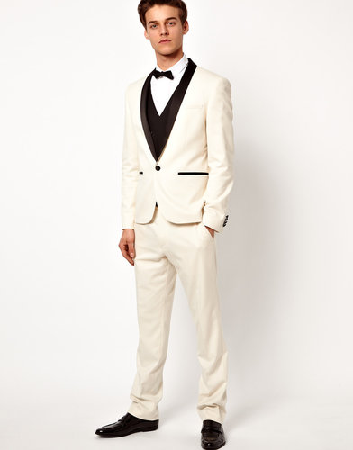 ASOS Slim Fit Tuxedo Suit Pants