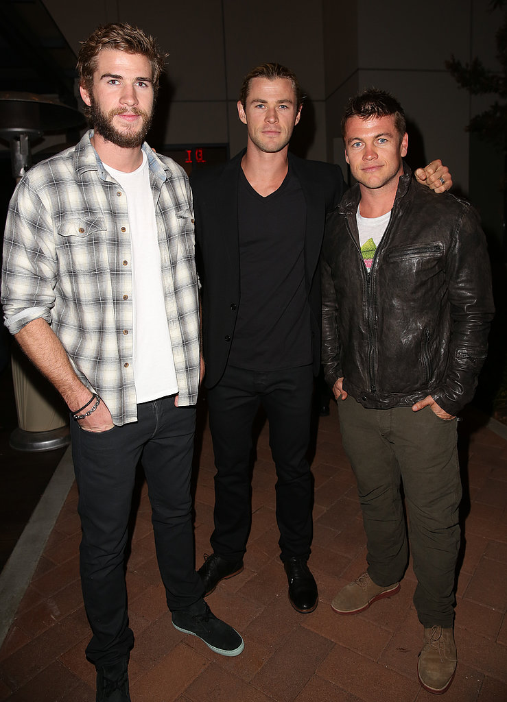 The Hemsworth brothers — Liam, Chris and Luke — showed off their genetic blessings at a City Year Los Angeles' Spring Break event on April 20.