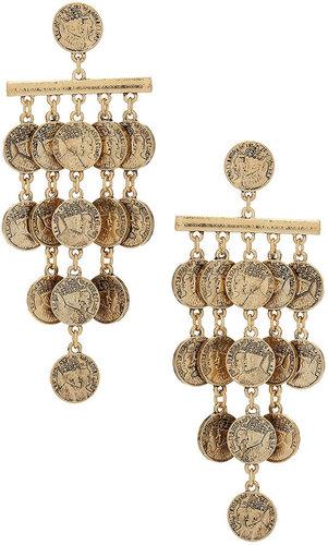 Chandelier-Ohrringe Mit Münzen Und Stäben