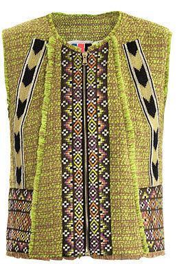 MSGM Neon tweed waistcoat
