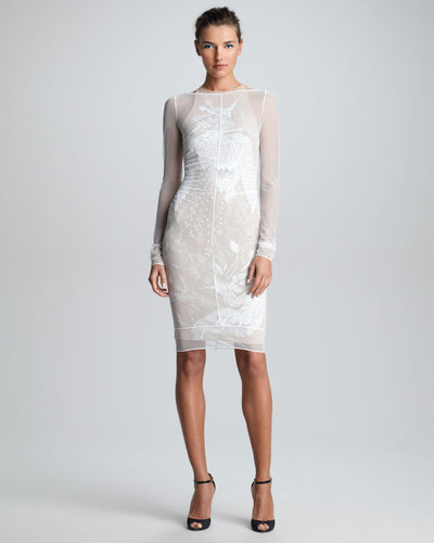 Emilio Pucci Sheer Embroidered Dress