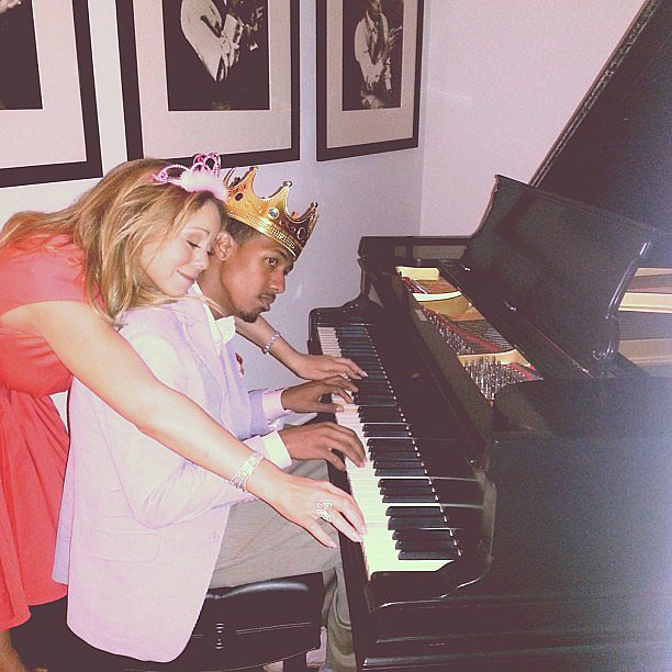 Mariah Carey shared this picture of Nick Cannon's early fifth anniversary gift, a restored Steinway piano from 1902. Source: Instagram user mariahcarey