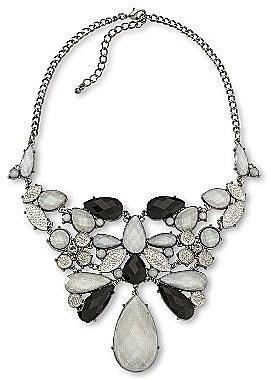 Black & Gray Sparkle Bib Necklace
