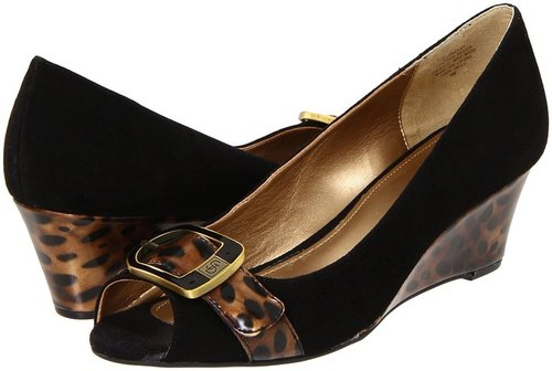 Circa Joan & David - Shayna (Black/Brown Suede) - Footwear