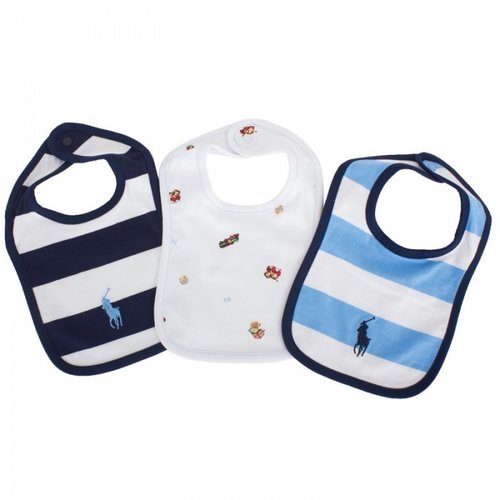 Ralph Lauren Three Pack Bib Set