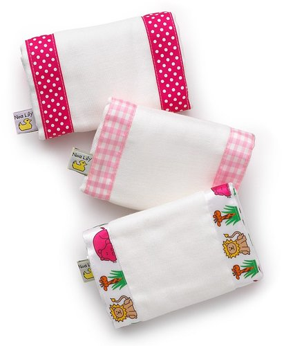 "Noa Lily Infant Girls' Burp Cloth Set - 14""x 20"""