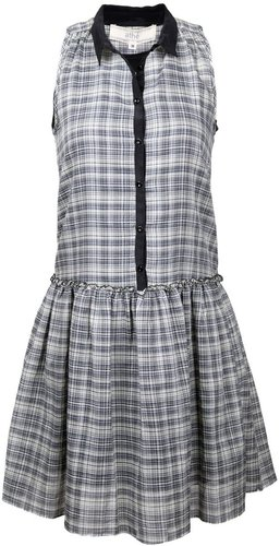 athé by Vanessa Bruno Plaid Sleeveless Colored Dress