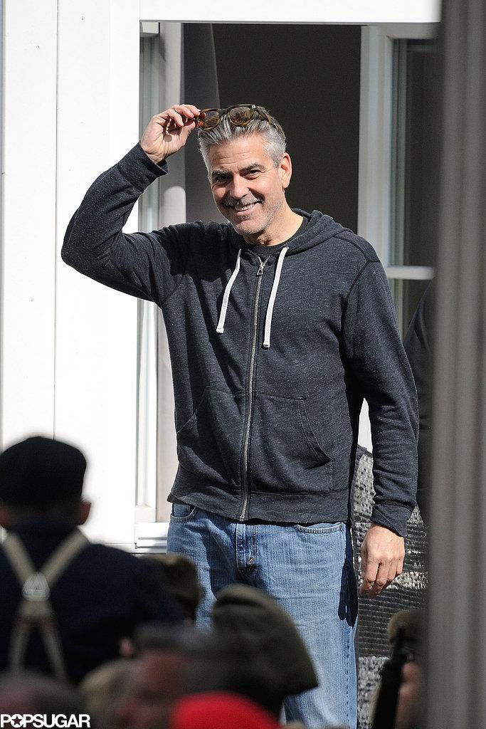 George Clooney filmed The Monuments Men in Goslar, Germany.