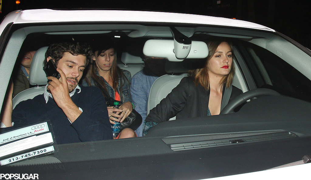 Leighton Meester and Adam Brody headed home.
