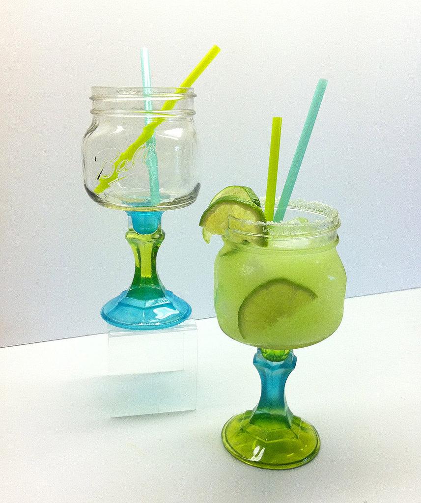Mason Jar Margarita Glass Set