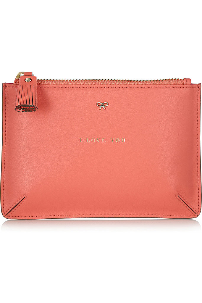 Anya Hindmarch I Love You Leather Pouch