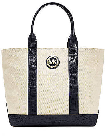 MICHAEL MICHAEL KORS Fulton Canvas Tote Bag