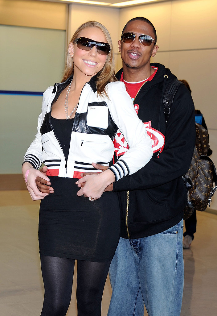 Mariah Carey and Nick Cannon got comfortable when traveling to Japan together in May 2008.