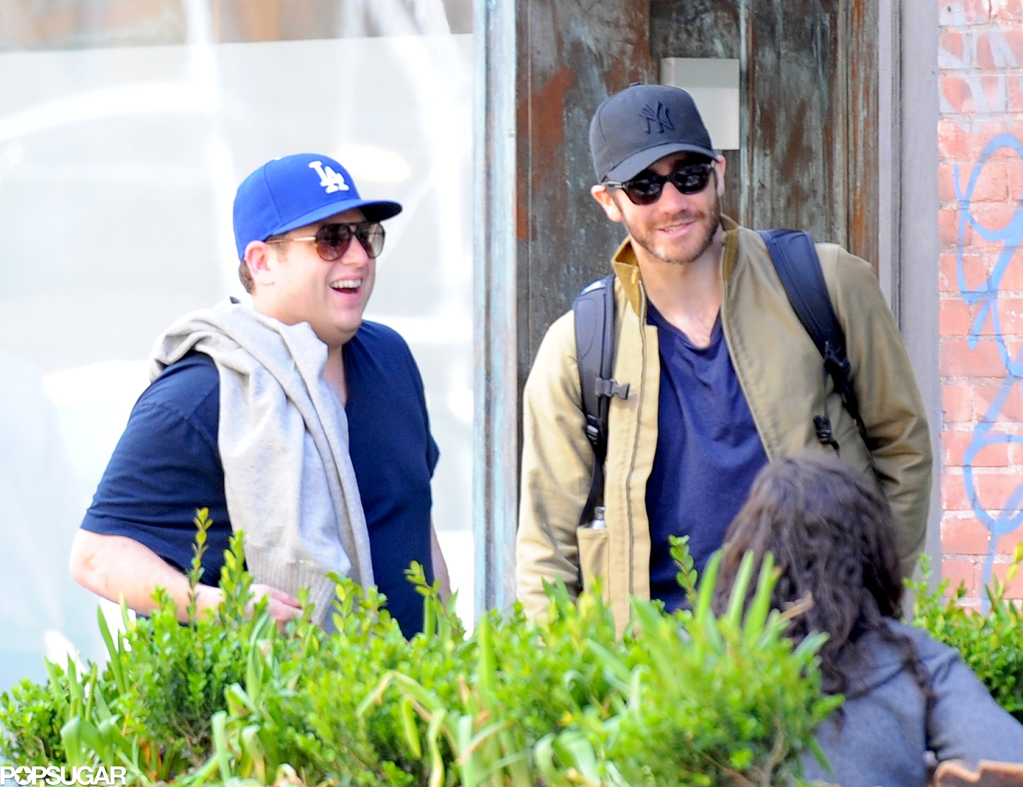 Later that day, Jonah Hill was the lucky guy to share a laugh with Jake Gyllenhaal at lunch.