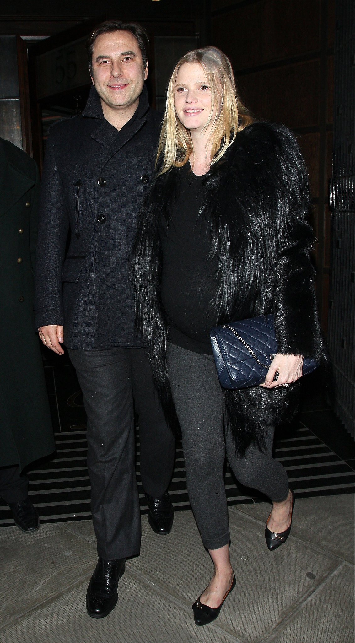 For date night with her husband david walliams in london a pregnant