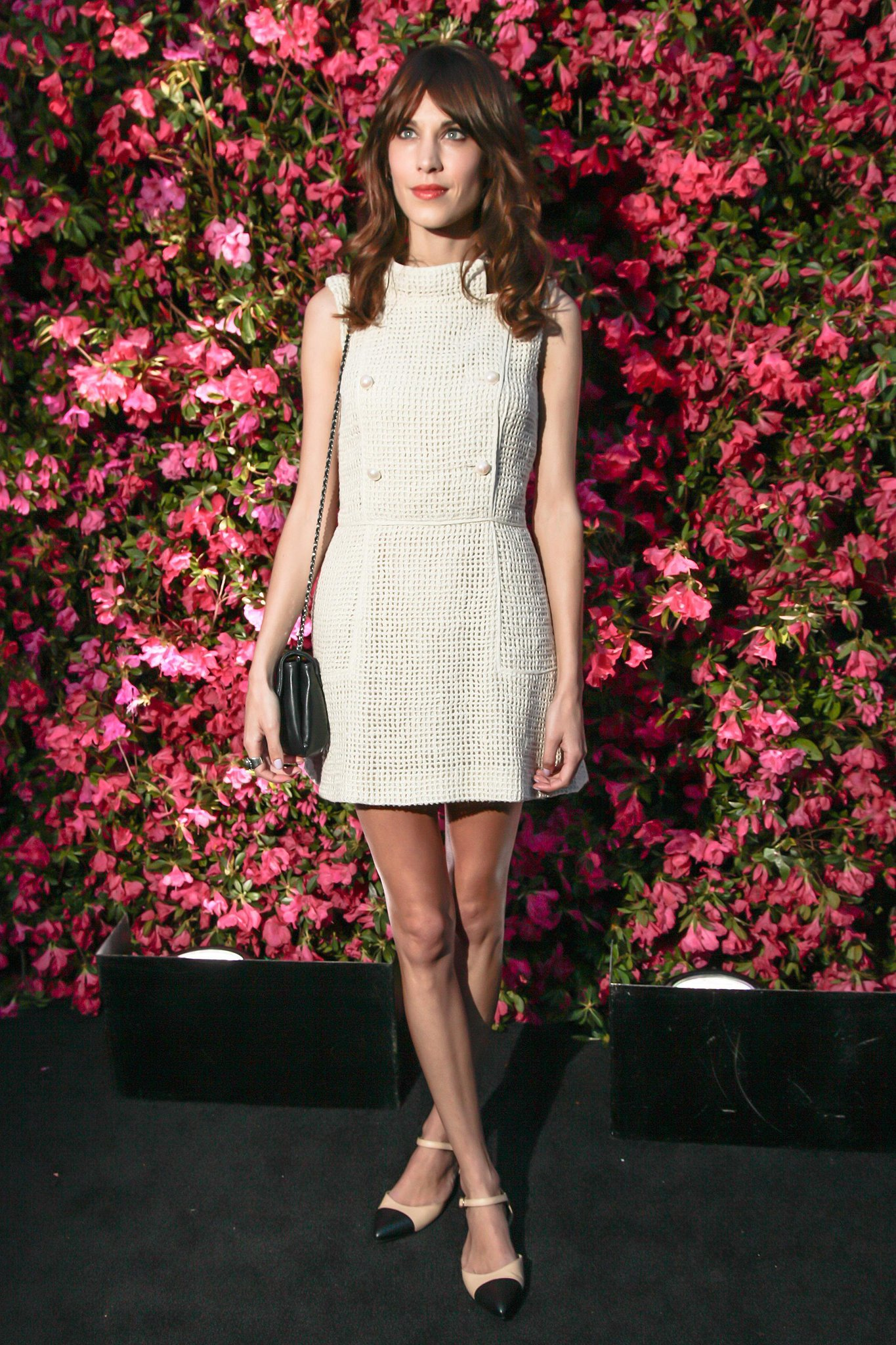 Alexa Chung wore Spring 2013 Chanel at Chanel's Tribeca Film Festival Artists Dinner in New York. Source: Matteo Prandoni/BFAnyc.com