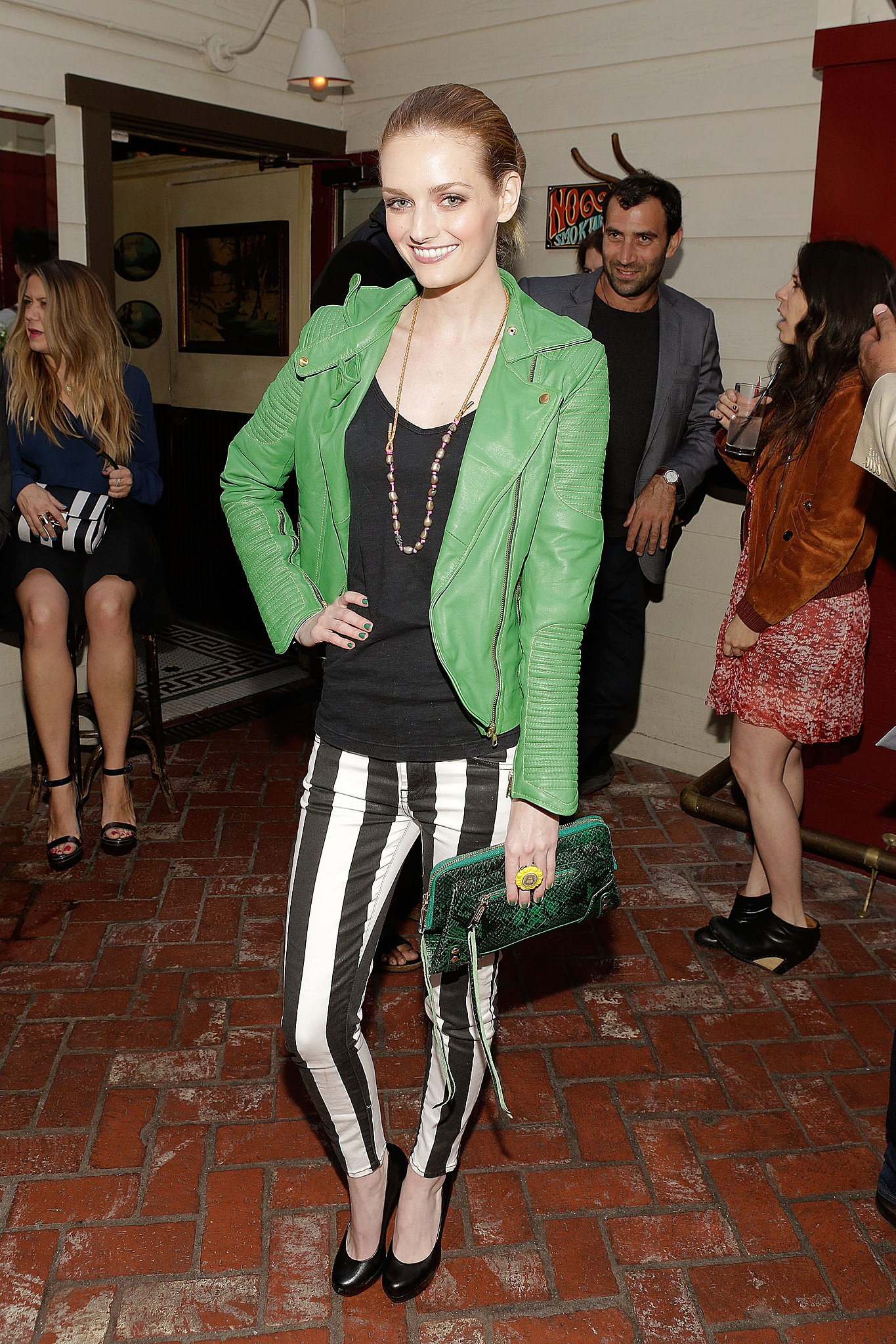 Lydia Hearst at Nylon Guys' April/May cover celebration in Los Angeles.