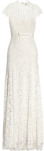 Temperley London Floral-lace and silk gown