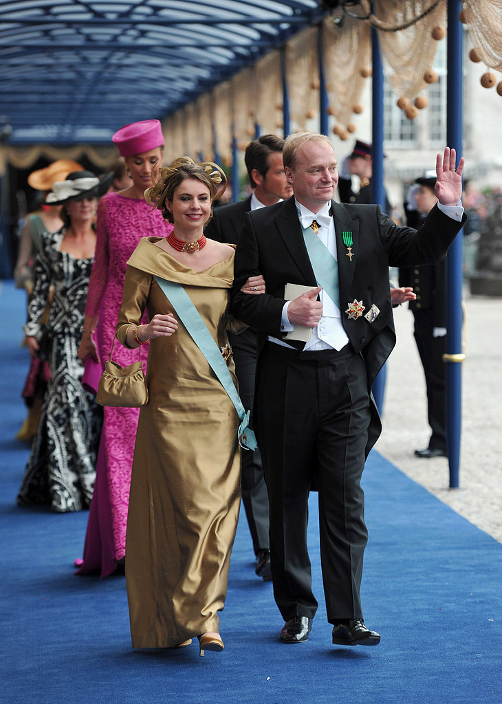 Carlos, Duke of Parma, and Annemarie Gualthérie van Weezel walked the blue carpet following the inauguration ceremony.