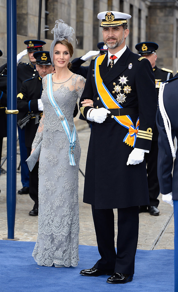 Princess Letizia and Prince Felipe of Spain made an attractive pair all dressed up for the ceremony.