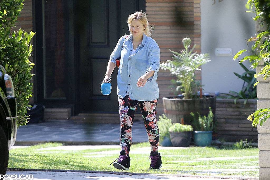 Kristen Bell made her way to her car in LA.