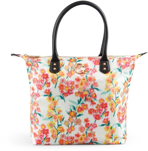 Watercolor Floral Nylon Easy Tote