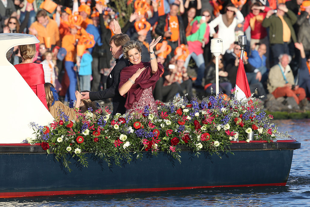 King Willem-Alexander and Queen Maxima took part in a water pageant to celebrate the inauguration.