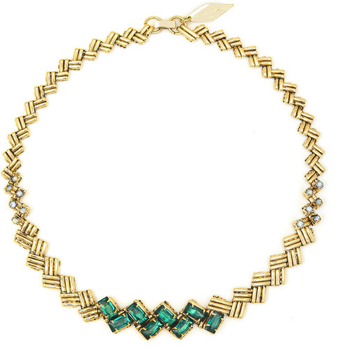 Criss Cross Emerald Necklace