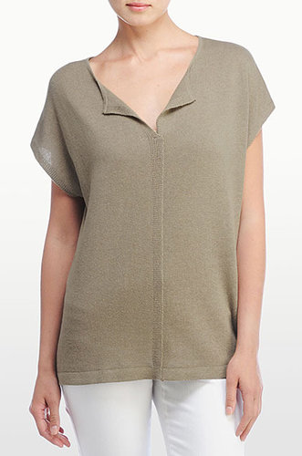 Short Sleeve Envelope Sweater