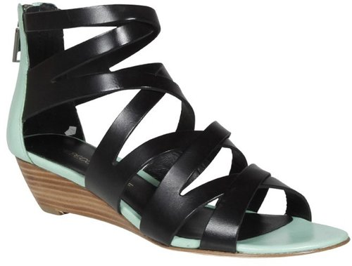 Bonnie Sandal in Black and Teal