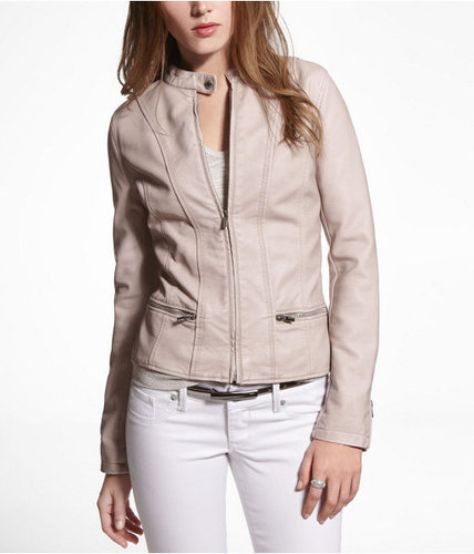 (Minus The) Leather Peplum Seamed Moto Jacket