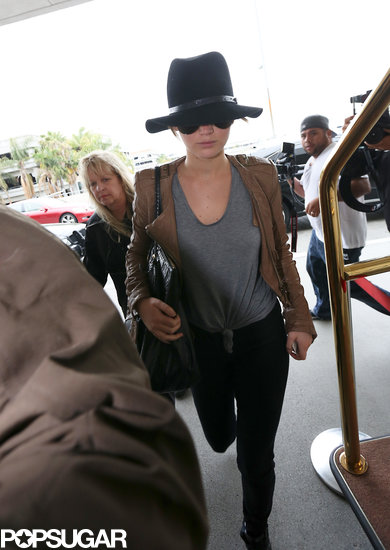 Jennifer Lawrence jetted out of LAX.