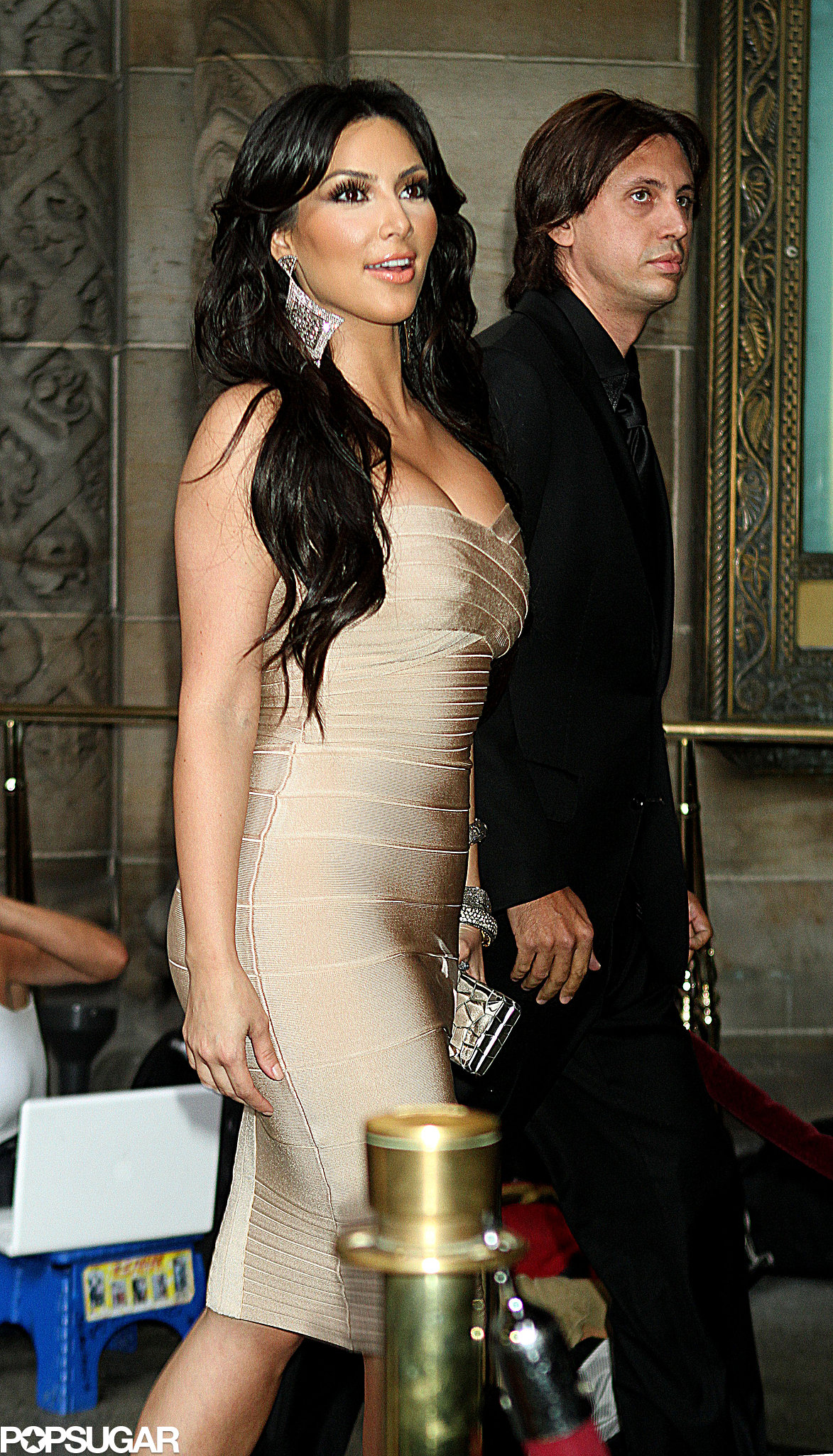 Kim Kardashian and Jonathan Cheban were each other's dates to La La Vasquez and Carmelo Anthony's nuptials in NYC in July 2010.