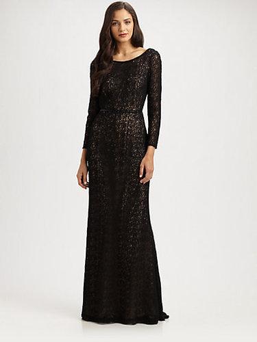 Carmen Marc Valvo Lace Gown